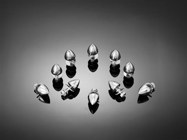 M6 Plain bullet nuts - Chrome