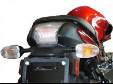 Transparent taillight with leds