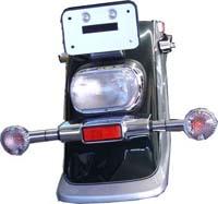 Feu arrière transparent avec diodes