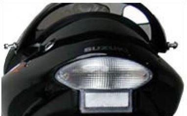 Transparant achterlicht + knipperlichten met leds