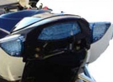 Feu arrière transparent + clignotants avec diodes - bleu