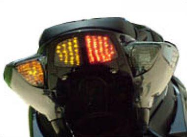 Transparent taillight + indicators with leds - blue