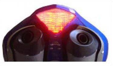 Feu arrière transparent + clignotants avec diodes - rouge