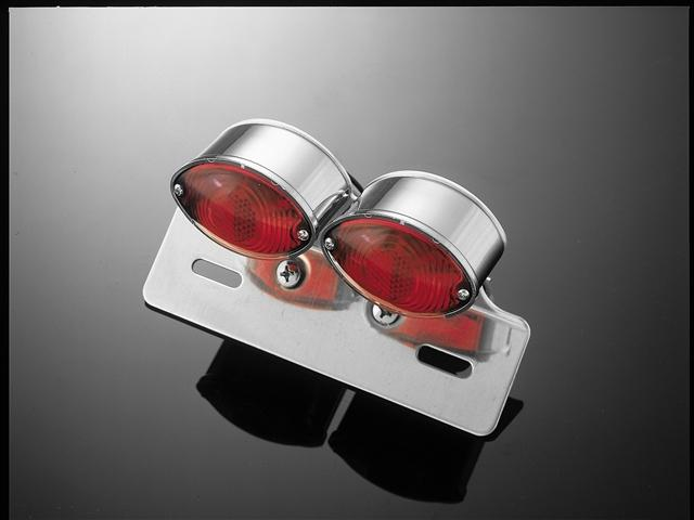 Taillight Double Cateye - Chrome