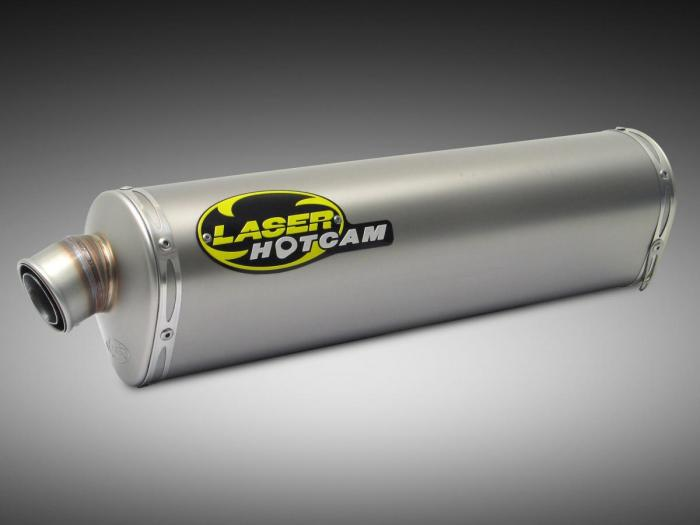 Hotcam 'DS' 'slip-on', aansluiting 61 mmø - titanium - street Legal+ Sport