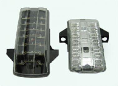 Feu arrière à diodes transparent + clignotants à diodes - fumé