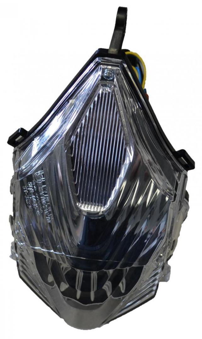 Transparant achterlicht + knipperlichten met leds - smoke