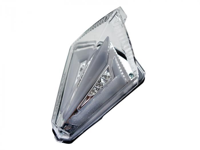 Transparant led achterlicht + knipperlichten met leds - smoke