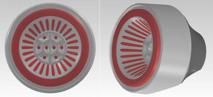 Feu arrière transparent + clignotants avec diodes