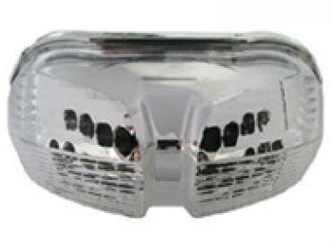 Feu arrière à diodes transparent + clignotants à diodes (modèle non ABS)