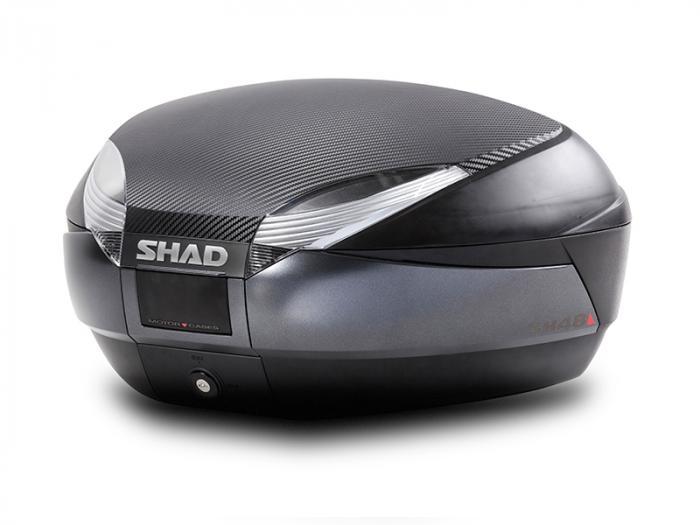 Top case - SH48 noir/gris - Blanc