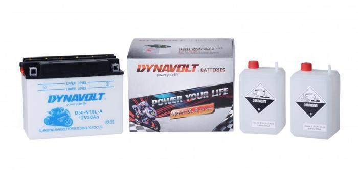 Batterie D50-N18L-A3  / YB50-N18L-A3 (Y50N18LA3 / DAD50N18LA3)