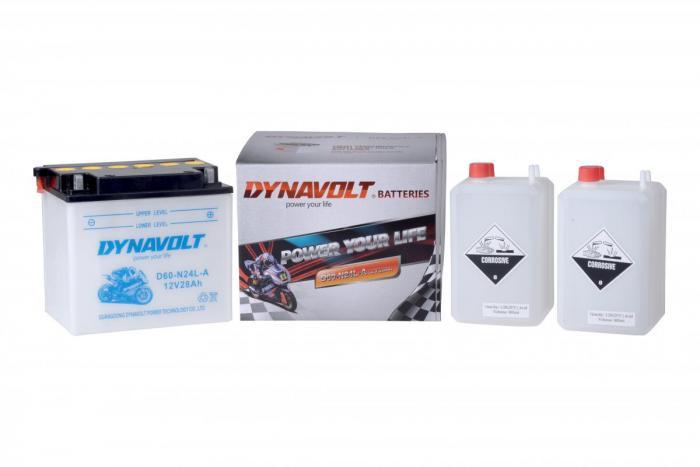 Batterie D60-N24L-A  / Y60-N24L-A (DIN 52515 / Y60N24LA / DAD60N24LA)