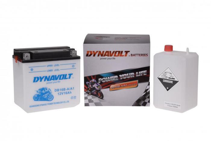 Batterie DB16B-A  / YB16B-A (DIN 51615 / YB16BA / DADB16BA)