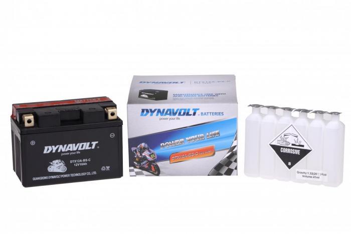 Batterie DTX12A-BS-C  / YTX12A-BS-C / YT12A-BS (DIN 51101 / YTX12ABSC / DBDTX12ABSC)