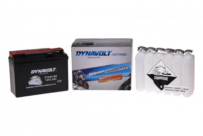 Batterie DTX4A-BS  / YTX4A-BS / YTR4A-BS (DIN 50303 / YTX4ABS / DBDTX4ABS)