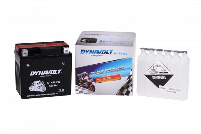 Batterie DTX5L-BS  / YTX5L-BS (DIN 50412 / YTX5LBS / DBDTX5LBS)