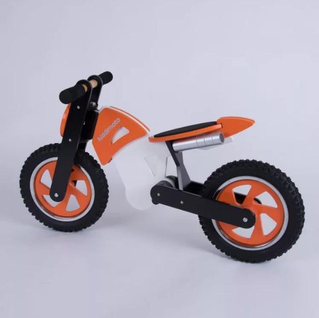 Kiddimoto - Loopfiets - Scrambler oranje  (STOCKOPRUIMING)