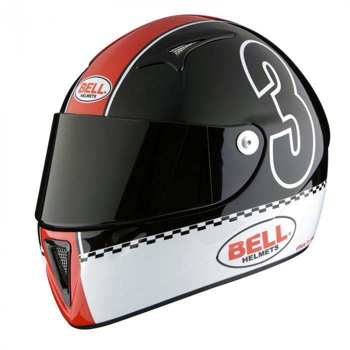 Bell integraal helm - M3X Xbell zwart/rood - XS