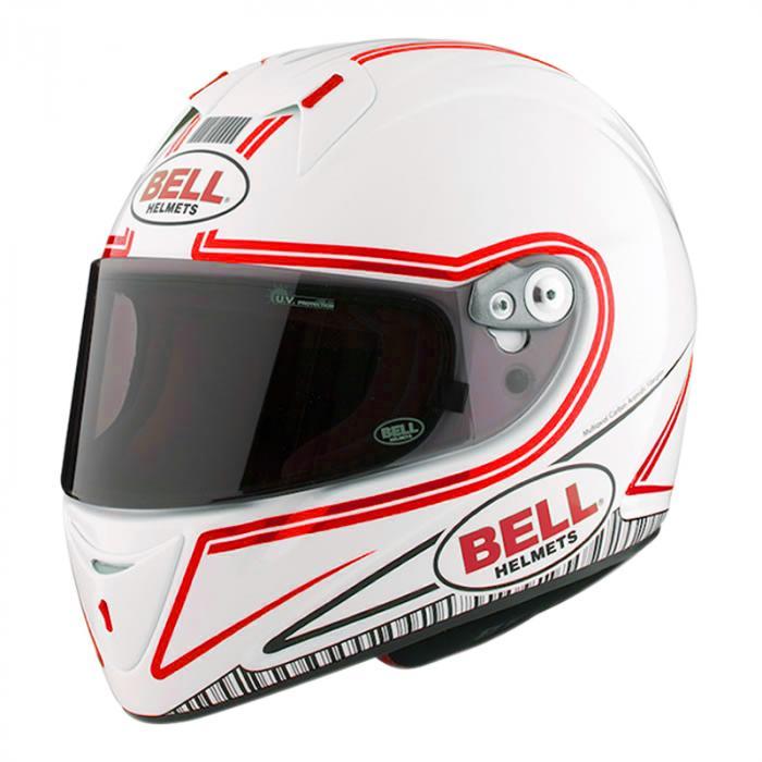 Bell full-face helmet - M4R Indy white/red