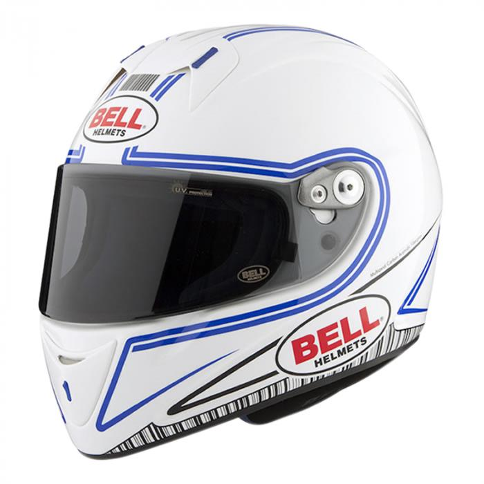 Bell integraal helm - M4R Indy wit/blauw