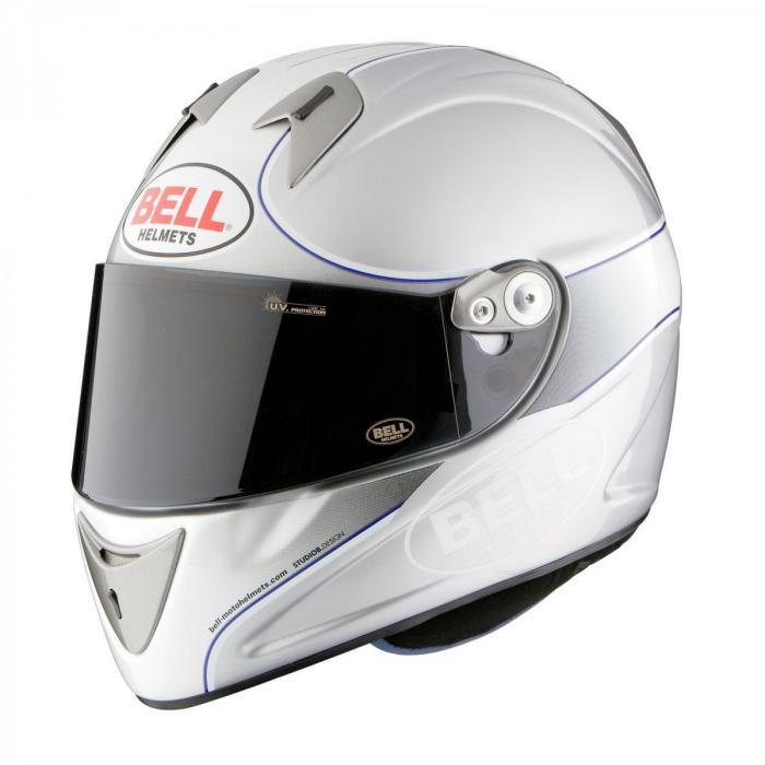 Casque Bell intégral  - M4R Indy argent