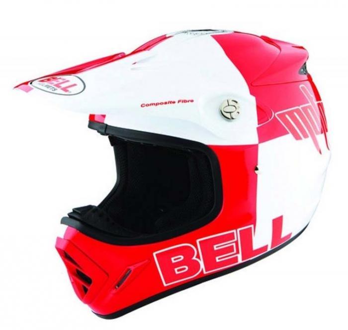 Bell off-road helm - Moto8K variant rood - XS