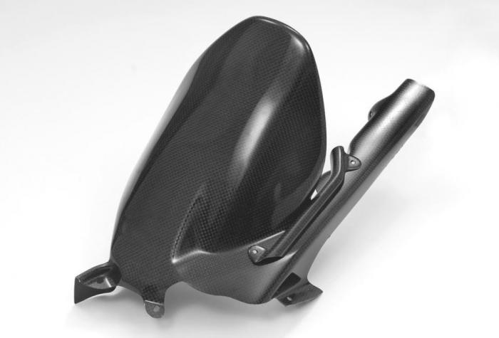 Carbon rear wheel hugger