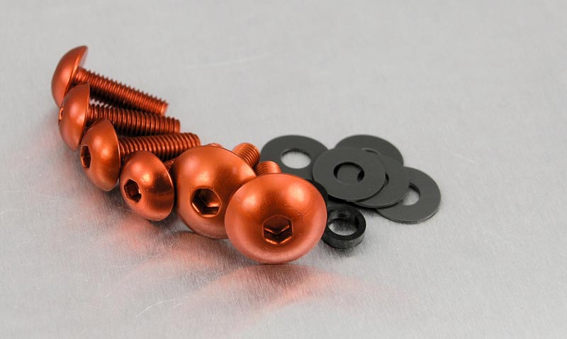 6 bolts Screen Bolt Kit,orange anodised alu for Triumph Tiger 1050 from 2007+