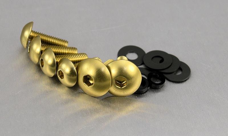 gold anodised alu Screen Bolt Kit ZX 600 6 bolts,for Kawasaki GPX 600 R