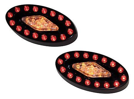 Feu arrière universel avec clignos à diodes pour ATV's - MEMPHIS (2 pièces)