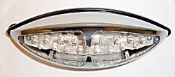 Universal double taillight - chrome / leds (255-815)