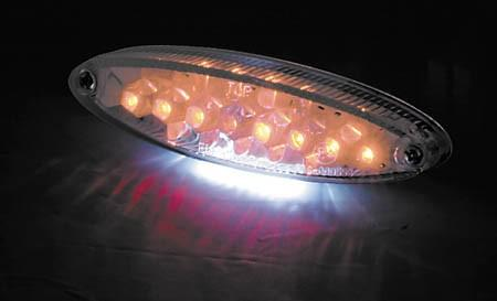 Universal taillight - oval / leds (255-977)