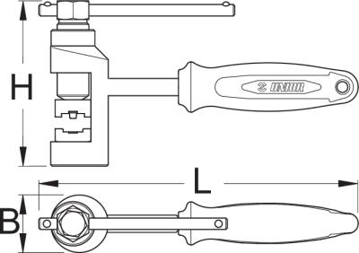 Kettingbreker, pers en riveteer instrument